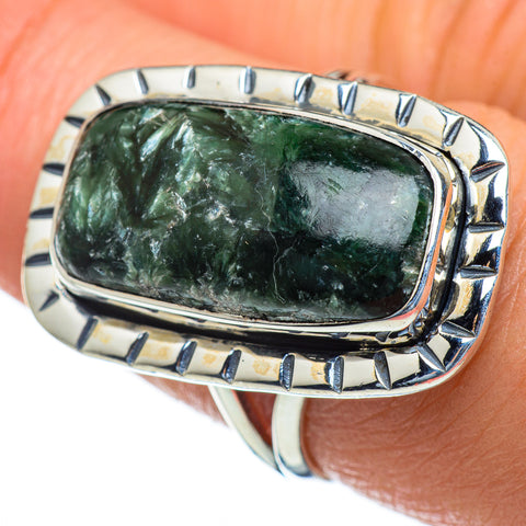 Seraphinite Rings handcrafted by Ana Silver Co - RING47413