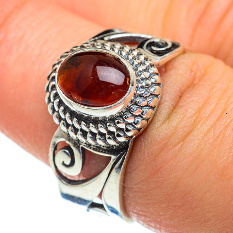 Baltic Amber Rings handcrafted by Ana Silver Co - RING47420
