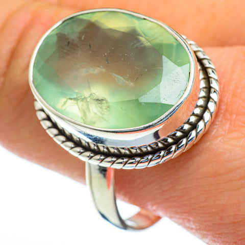 Prehnite Rings handcrafted by Ana Silver Co - RING47438