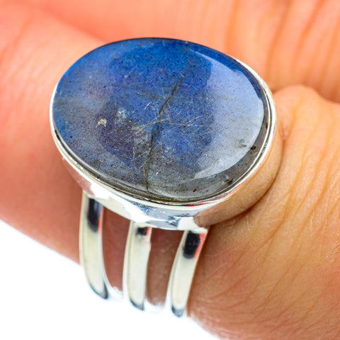 Labradorite Rings handcrafted by Ana Silver Co - RING47455