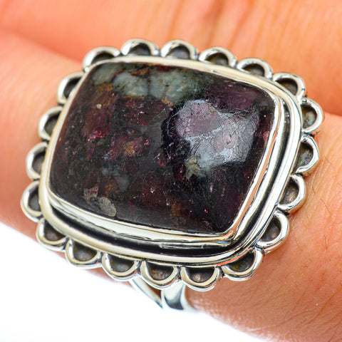 Russian Eudialyte Rings handcrafted by Ana Silver Co - RING47477