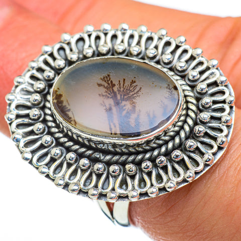 Scenic Dendritic Agate Rings handcrafted by Ana Silver Co - RING47484