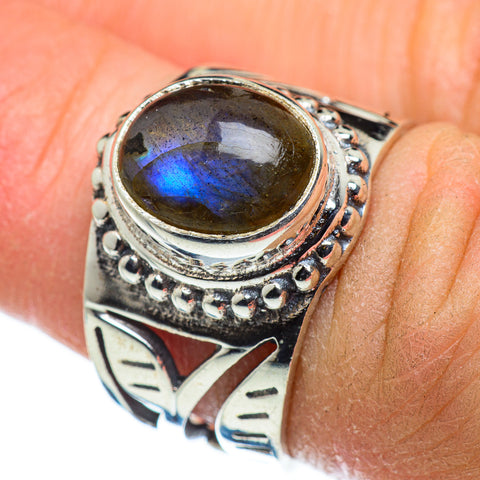 Labradorite Rings handcrafted by Ana Silver Co - RING47559