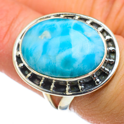 Larimar Rings handcrafted by Ana Silver Co - RING47565