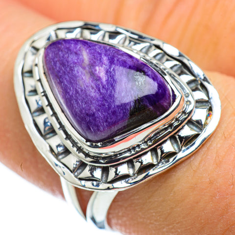Charoite Rings handcrafted by Ana Silver Co - RING47578