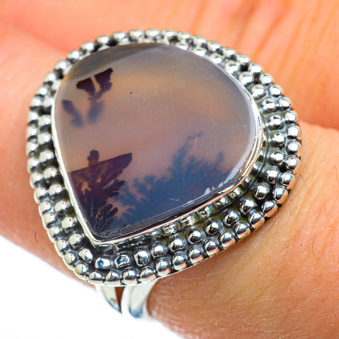 Scenic Dendritic Agate Rings handcrafted by Ana Silver Co - RING47584