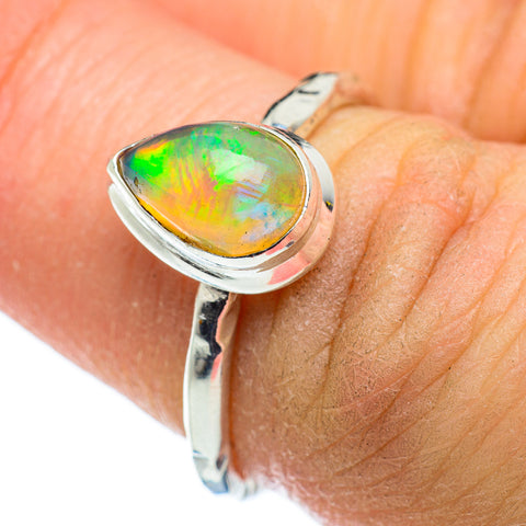 Ethiopian Opal Rings handcrafted by Ana Silver Co - RING47588
