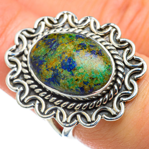 Azurite Rings handcrafted by Ana Silver Co - RING47617