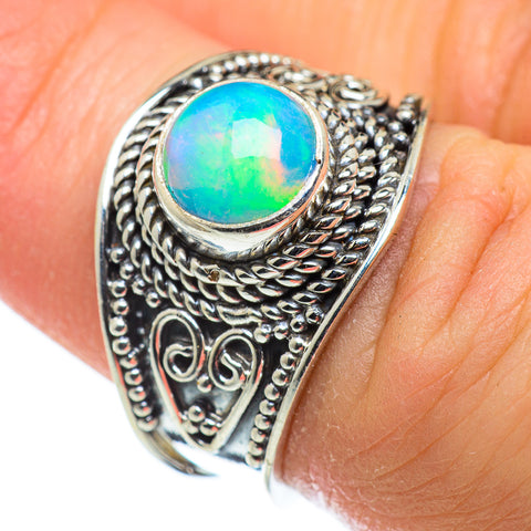Ethiopian Opal Rings handcrafted by Ana Silver Co - RING47618