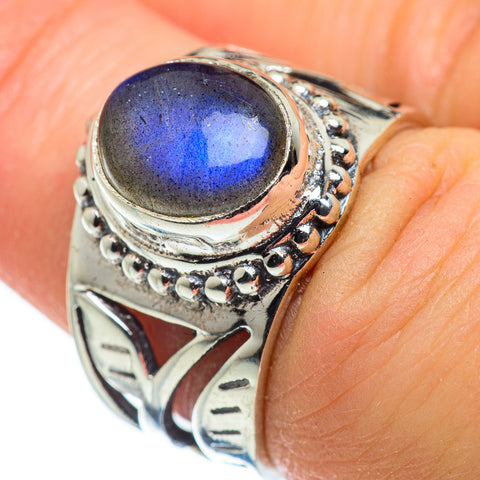 Labradorite Rings handcrafted by Ana Silver Co - RING47623