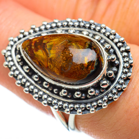Golden Pietersite Rings handcrafted by Ana Silver Co - RING47632