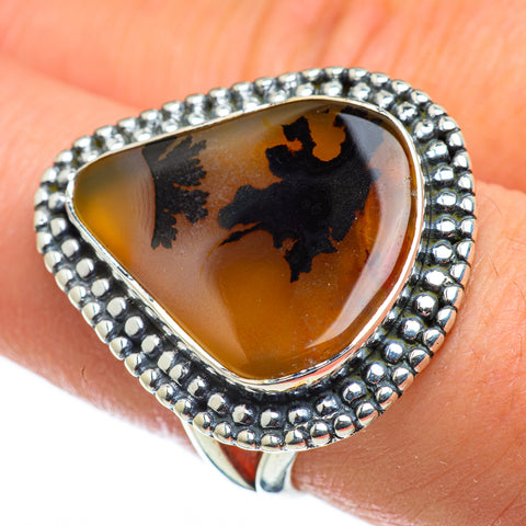 Scenic Dendritic Agate Rings handcrafted by Ana Silver Co - RING47661