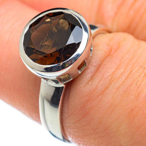 Smoky Quartz Rings handcrafted by Ana Silver Co - RING47689