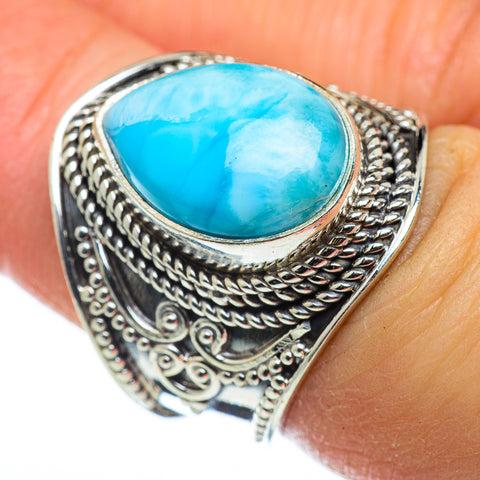 Larimar Rings handcrafted by Ana Silver Co - RING47708