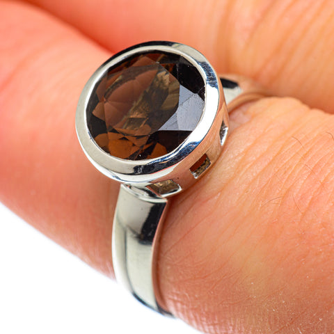 Smoky Quartz Rings handcrafted by Ana Silver Co - RING47718