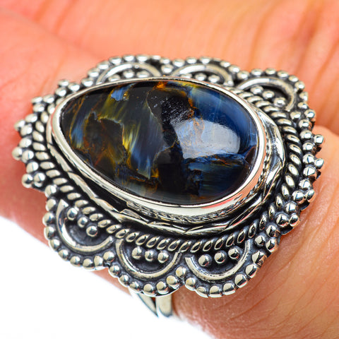 Pietersite Rings handcrafted by Ana Silver Co - RING47728