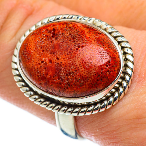 Sponge Coral Rings handcrafted by Ana Silver Co - RING47749