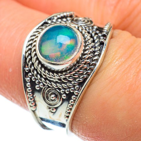 Ethiopian Opal Rings handcrafted by Ana Silver Co - RING47759