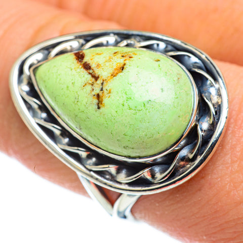 Lemon Chrysoprase Rings handcrafted by Ana Silver Co - RING47762