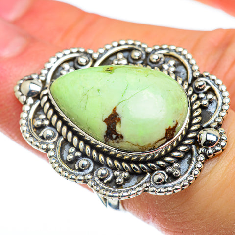 Lemon Chrysoprase Rings handcrafted by Ana Silver Co - RING47792