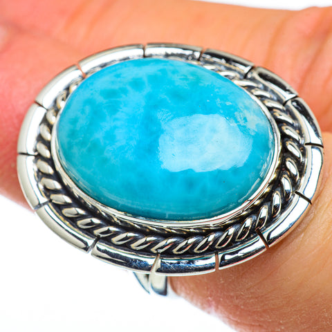 Larimar Rings handcrafted by Ana Silver Co - RING47796