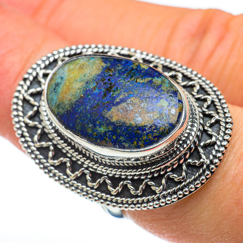 Azurite Rings handcrafted by Ana Silver Co - RING47875