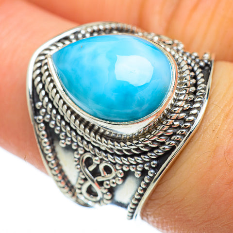 Larimar Rings handcrafted by Ana Silver Co - RING47921