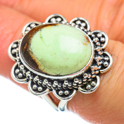 Lemon Chrysoprase Rings handcrafted by Ana Silver Co - RING47953
