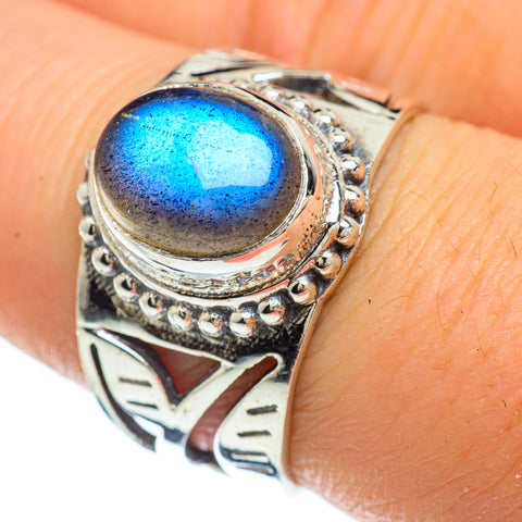 Labradorite Rings handcrafted by Ana Silver Co - RING47956