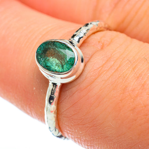 Zambian Emerald Rings handcrafted by Ana Silver Co - RING47996