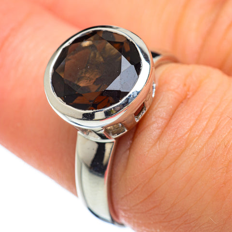 Smoky Quartz Rings handcrafted by Ana Silver Co - RING47999