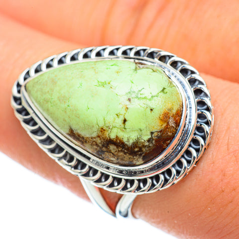 Lemon Chrysoprase Rings handcrafted by Ana Silver Co - RING48022