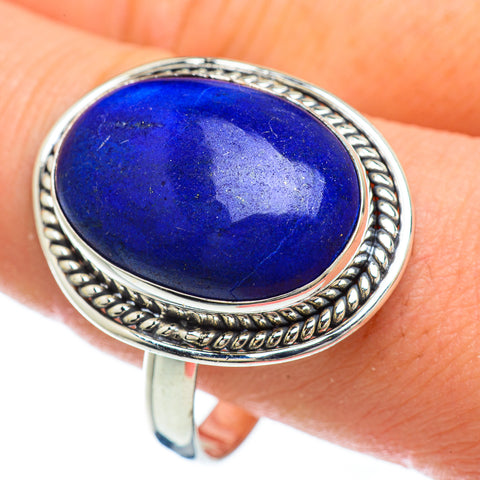 Lapis Lazuli Rings handcrafted by Ana Silver Co - RING48023