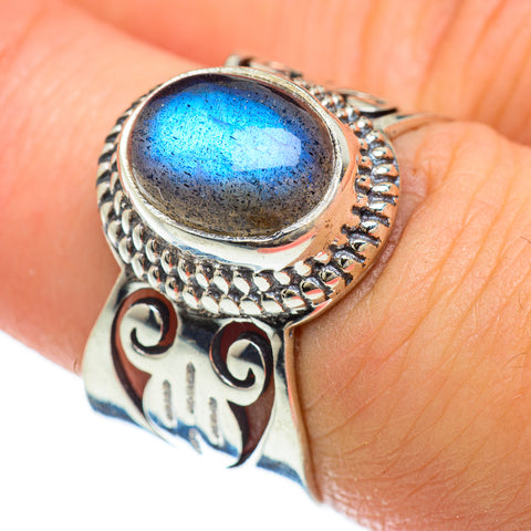 Labradorite Rings handcrafted by Ana Silver Co - RING48061