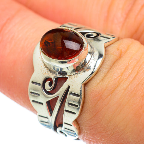 Baltic Amber Rings handcrafted by Ana Silver Co - RING48071