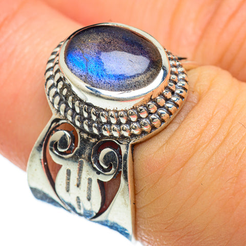 Labradorite Rings handcrafted by Ana Silver Co - RING48086
