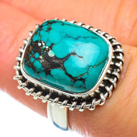 Tibetan Turquoise Rings handcrafted by Ana Silver Co - RING48091