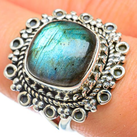 Labradorite Rings handcrafted by Ana Silver Co - RING48118