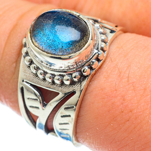 Labradorite Rings handcrafted by Ana Silver Co - RING48150