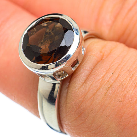 Smoky Quartz Rings handcrafted by Ana Silver Co - RING48155