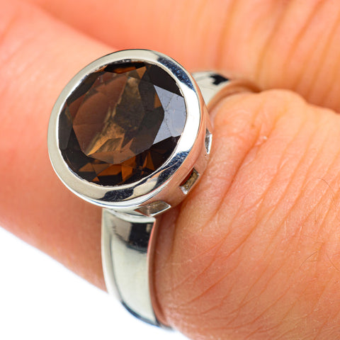 Smoky Quartz Rings handcrafted by Ana Silver Co - RING48182