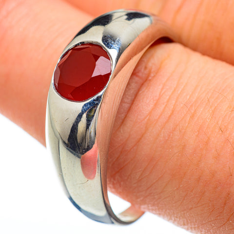 Red Onyx Rings handcrafted by Ana Silver Co - RING48184