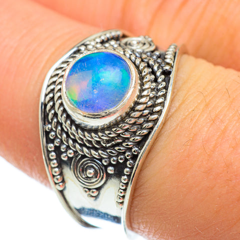 Ethiopian Opal Rings handcrafted by Ana Silver Co - RING48221