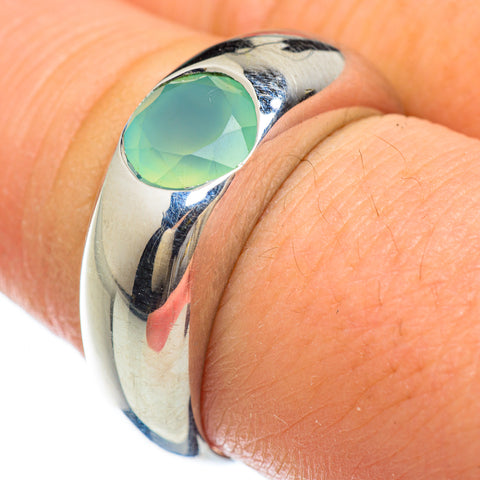 Aqua Chalcedony Rings handcrafted by Ana Silver Co - RING48228