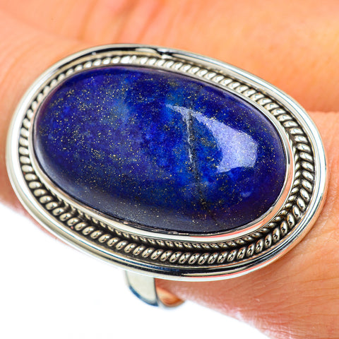 Lapis Lazuli Rings handcrafted by Ana Silver Co - RING48255