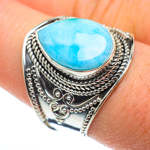 Larimar Rings handcrafted by Ana Silver Co - RING48294