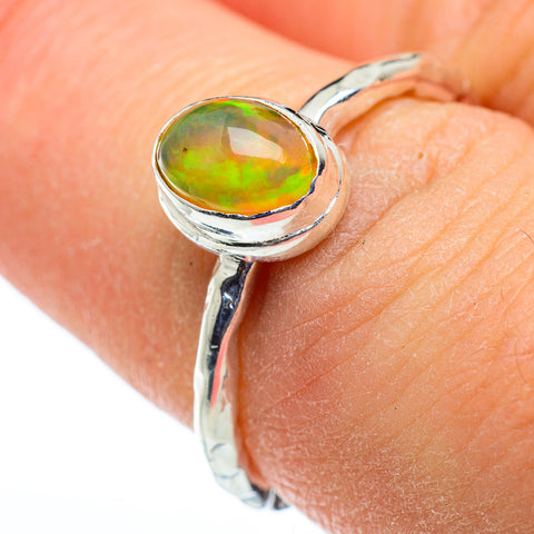 Ethiopian Opal Rings handcrafted by Ana Silver Co - RING48321