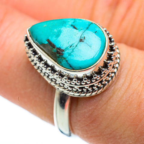Tibetan Turquoise Rings handcrafted by Ana Silver Co - RING48364