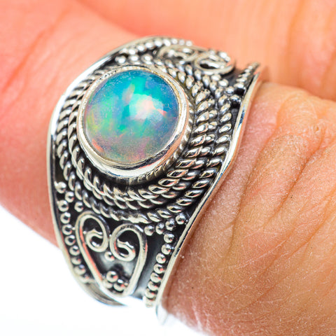 Ethiopian Opal Rings handcrafted by Ana Silver Co - RING48391