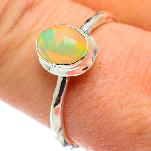 Ethiopian Opal Rings handcrafted by Ana Silver Co - RING48392